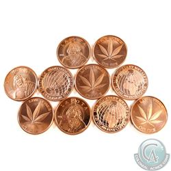 Lot of 10x  Various 1oz Fine Copper Rounds (Tax Exempt)