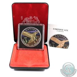 2015 Canada $5 Red-Tailed Hawk 24K Gilt Fine Silver Coin (Tax Exempt)