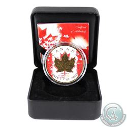 2015 Canada $5 Silver Maple with Coloured/Gilt 1965-2015 Design (Tax Exempt)