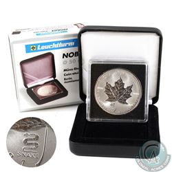 2001 Canada $5 Snake Privy Mark Silver Maple Leaf (TAX Exempt)