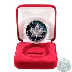 2011 Canada $5 Coloured 1oz Fine Silver Maple (Tax Exempt). Please note the coin has spotting and ca