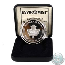 1999 Limited Edition Toronto Maple Leafs Opening Day at Air Canada Centre 1oz Fine Silver Medallion