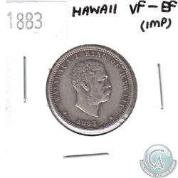 1883 Hawaii 1/4D VF-EF (Impaired)