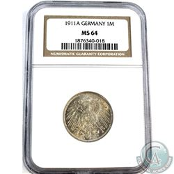 1911A Germany 1 Mark NGC Certified MS-64