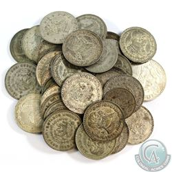 Lot of Mexico Silver Coins - Mostly 1 Peso coins. 37pcs
