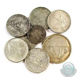 Lot of Italy Silver Coins - Weight 86.9g. 8pcs
