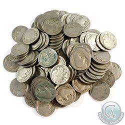 Lot of Mixed Date USA Buffalo Nickels. 100pcs