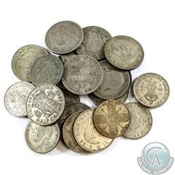 Lot of Great Britain Silver Half Crowns & Florins - Weight 287.3g. 22pcs
