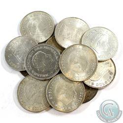 Lot of Netherlands Silver 10 Gulden Coins - Weight 300g. 12pcs