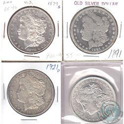 Lot of USA Morgan Dollars 1879-1921. 4pcs