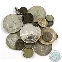 Lot of Mixed Silver World Coins - Weight 167.6g. 22pcs