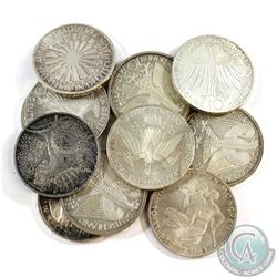 Lot of Germany Olympic 10 Mark Silver Coins. 12pcs