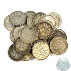 Lot of Netherlands Silver 1 Gulden Coins - Weight 142.7g. 22pcs
