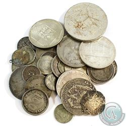 Lot of Mixed Silver World Coins - Weight 167.2g. 32pcs
