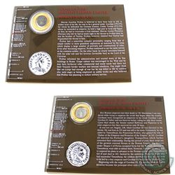 Coins of the Ancient Roman Empire 2-coin Set from the Franklin Mint. This Set features a hard plasti