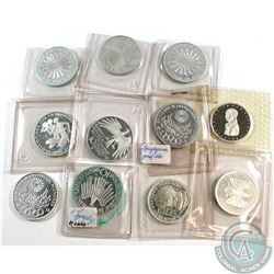 Lot of Germany Silver Coins, Mostly 10 Mark with Some 5 Mark. Please note some coins are turning gre