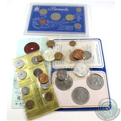 Lot of Various World Coin Sets. You will receive 2x Mexico sets with a Silver Coin in each, Isle of