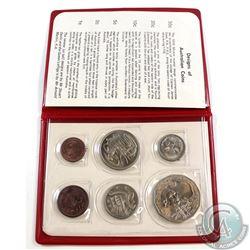 1970 Royal Australian Mint 6-coin Decimal Set in Red Wallet