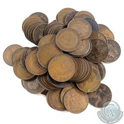 Lot of Great Britain Pennies 1860-1948. 100pcs