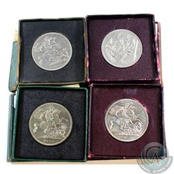 Lot of 1951 Festival of Britain One Crown Coins in Original Cases with Certificates. The cases are s