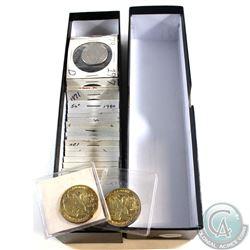 Estate Lot of USA 20x Susan B. Anthony, Eisenhower and Sacagawea Dollars & 26x Half Dollars with 194