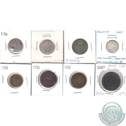 Estate Lot of Old World Coins. As per holders, the oldest date is 1594. 8pcs