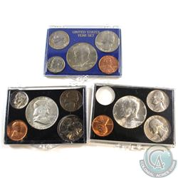 Estate Lot of USA 5-coin Year Sets (Half Dollar to Cent) in Hard Plastic Holders. You will receive 1