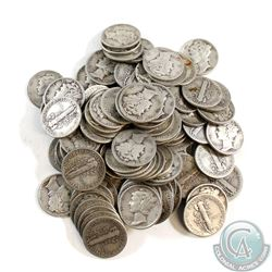 Group Lot of USA Mercury Dimes with $10.50 Face Value.