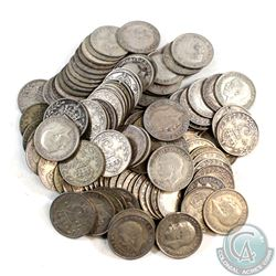 Group Lot of Great Britain 3 Pence - Weight 153.35g.