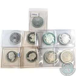 Lot of Germany Silver Coins, 7x 10 Mark & 2x 5 Mark. Please note some coins are turning green. 9pcs