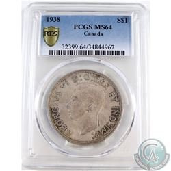 1938 Canada $1 PCGS Certified MS-64