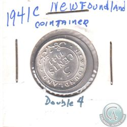 ERROR 1941c Newfoundland 5-cent with Doubling of '4'
