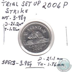 TRIAL STRIKE Set up on a 2006P Canada 5-cent