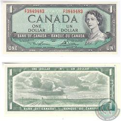 1954 4 Digit RADAR $1.00 Note with Serial Number Z/F3849483