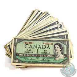 50 x 1954 $1.00 Notes in average circualted Condition.  50 pcs.