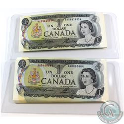 124 x 1973 $1.00 Notes with 124 Different Prefix`s all in UNC Condition.  124 pcs.