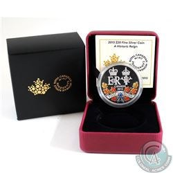 2015 Canada $20 A Historic Reign Fine Silver Coin (Tax Exempt)