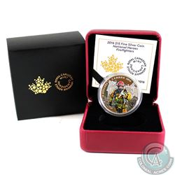 2016 Canada $15 National Heroes - Firefighters Fine Silver Coin (Tax Exempt)