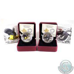 2016 Canada $20 Migratory Birds - Pileated Woodpecker & American Goldfinch Fine Silver Coins (Tax Ex