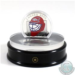 2009 Canada $20 Montreal Canadiens NHL Goalie Mask & Acrylic Stand Sterling Silver.