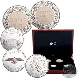 2017 Canada Legacy of the Penny Fine Silver 5-coin Set (Tax Exempt). Please note capsules contain fa