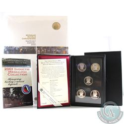2006 Canada RCM Annual Report with Gold Plated 50-cent & 2001 Hockey Hall of Fame Inductee Medallion