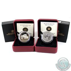 2011 Canada $10 Wood Bison & 2011 Canada $10 Maple Leaf Forever Fine Silver Coins (Tax Exempt). Plea