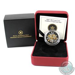 2007 50-cent Canadian Floral Collection - Golden Forget-Me-Not Sterling Silver Coin.