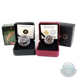 2012 $10 Canadian Geographic - Praying Mantis & 2017 Canada $3 Zodiac- Aquarius Fine Silver Coins (T