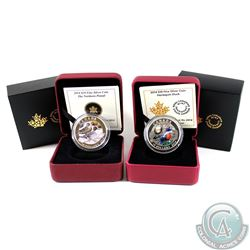 2014 Canada $10 Pintail & Harlequin Duck Fine Silver Coins (Tax Exempt). Please note coins have ligh