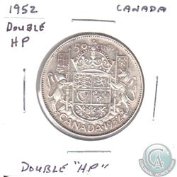 1952 Canada 50-cent DOUBLE HP