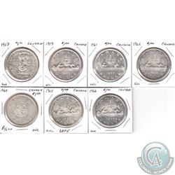 1958-1966 Canada Silver Dollar Estate Collection. You will receive the following dates: 1958, 1959,