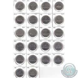 1968-1986 Canada Nickel Dollar Estate Collection. You will receive the following dates: 1968, 1971,