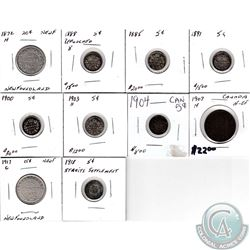 Estate Lot of Mixed Coins dated 1872 to 1918. You will receive the following; 1872H NFLD 20-cent, 18